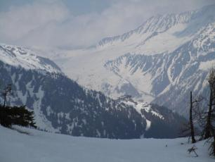 Chamonix valley today - towards Le Tour