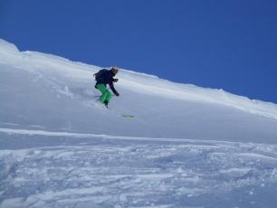 Flegere today - the last patch of powder!