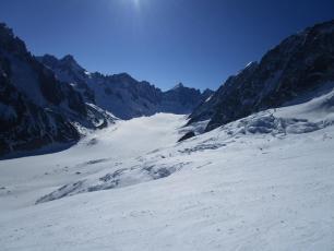 Argentiere glacier ski tour today