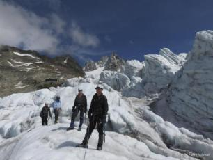 4 jours Mont Blanc parcours. photo source : @www.chamonixmontblancguides.com