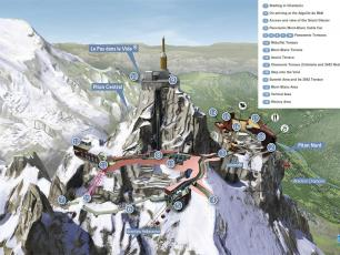 Plan of the Aiguille du Midi Complex - Photo courtesy by CMB
