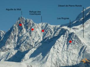 Cosmiques Refuge, Mont-Blanc massif