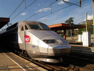 SNCF train at Chambery - Paris-Sud-Est