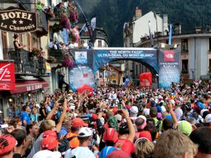 The Ultra-Trail of Mont-Blanc (UTMB®) starting line in 2013