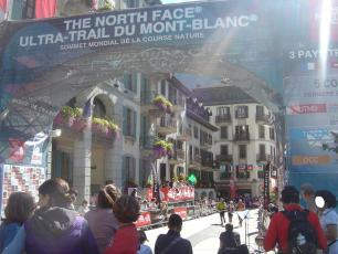The Ultra-Trail of Mont-Blanc (UTMB®) finish line in 2014
