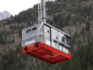 The Aiguille du Midi cable car goes up to 3778m