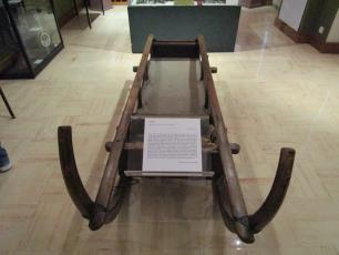 Sledge used for the the first mountain ascents