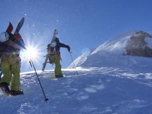 Arete Bosses, Mont-Blanc. Photo Credits: P. Arpin, D. Deschamps, B. Delapierre, F. Bernard