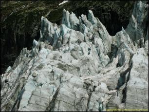 Seracs of the Argentière Glacier