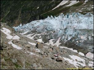 The Argentière Glacier view