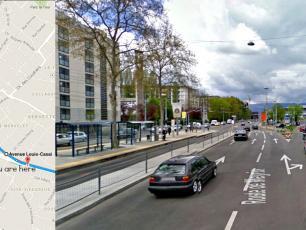 At Carefour du Bouchet, turn right onto Avenue Louis Casai