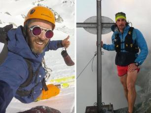 Luca Martini (à gauche) et Edoardo Camardella (à droite) ont tragiquement perdu la vie dans un massif du Mont-Blanc, photo source @LeDauphine