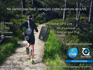 Follow by GPS. Photo source: @http://utmbmontblanc.com