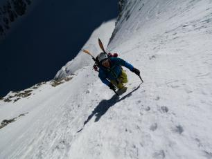 Les Courtes, Mont Blanc Massif. Photo Credits: P. Arpin, D. Deschamps, B. Delapierre, F. Bernard