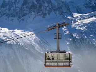 The Brevent cable car in Chamonix