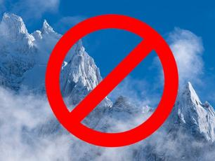 The Chamoniarde warns against mountain activities, photo source @facebook.com/chamoniarde
