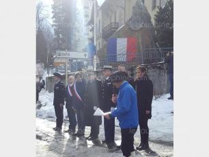 La cérémonie d'anniversaire du PGHM de Chamonix. Photo source: @ledauphine.com
