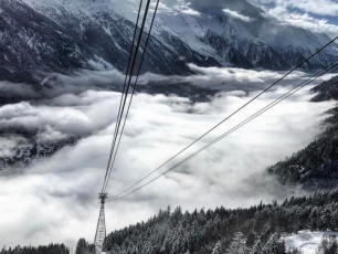 Flégère les Praz cable car. photo source : @instagram chamonix_france