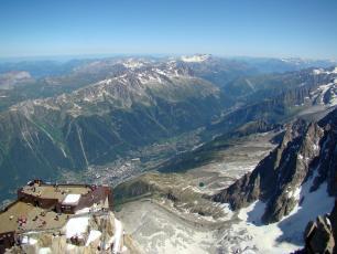Chamonix from the Aiguille du Midi