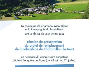 On 29 June 2020, a public meeting to present the replacement project for the Charamillon gondola will be held. Photo source @chamonix.fr