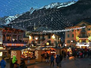 Chamonix during Christmas