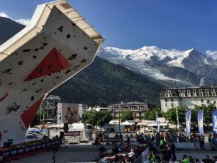 Coupe du monde d'escalade à Chamonix 2018.Photo source: @ pressnut.com