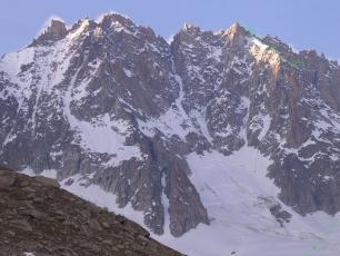 The south side of les Droites, Mont Blanc Massif