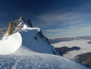 The col du Midi , Mont-Blanc massif
