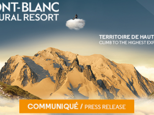 Communiqué de presse du 21 septembre 2017 émis par Mont-Blanc Natural Resort.