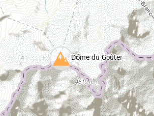 The Dôme du Goûter. Photo source: @www.camptocamp.org
