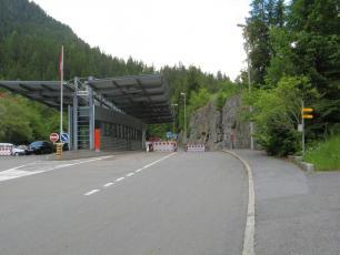 Customs between France and Switzerland at Chatelard in Vallorcine, Chamonix