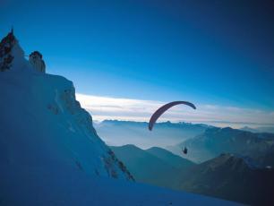 Parapente Face Nord Aiguille du Midi Chamonix
