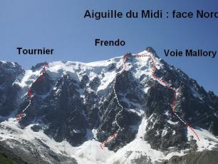 Eperon Frendo Face Nord Aiguille du Midi