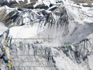 Nuptse South Face in alpine style. Photo source: @www.facebook.com/pg/legangdesmoustaches