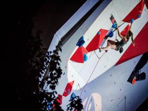 The Slovenian climber Janja Garnbret has once again claimed gold. Photo source: @Rémi Fabregue
