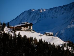 La Flegere chalet and ski resort in Chamonix Mont Blanc valley