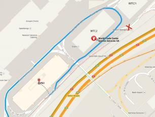 There is a short ride from the fuel station to P51 entry