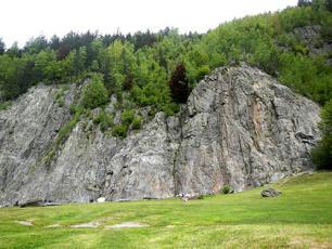 The Gaillands climbing wall, Chamonix