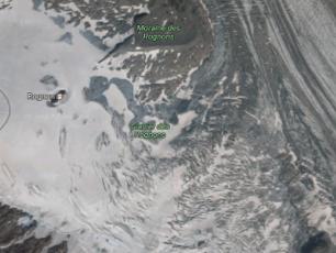 Google maps: Rognons Glacier
