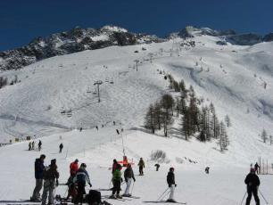 Vue de la station de ski des Grands Montets à Chamonix