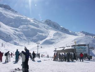 View of the Grands Montets Ski Resort in Chamonix