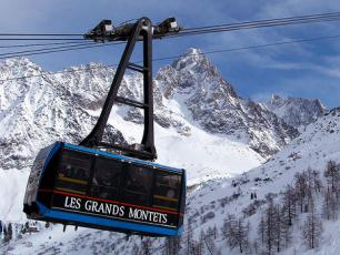 The Grand Montets cable car in Chamonix Valley