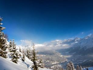 Les Houches reprersents a great area for beginners and intermediates