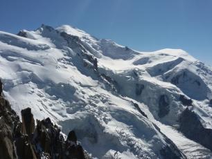 Massif du Mont Blanc depuis l'Aiguille du Midi