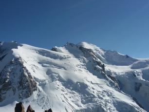 Vue sur le Mont Blanc depuis l'Aiguille du Midi