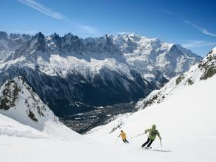 Chamonix valley skiing and snowboarding resort