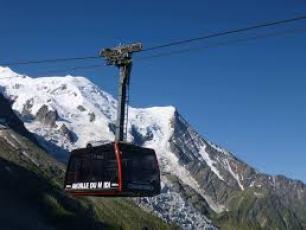 Le téléphérique de l'Aiguille du Midi à Chamonix