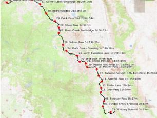 François D'Haene: New Speed Record of John Muir Trail (USA). Photo source: @www.francoisdhaene.com