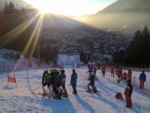 young athletes at Kandahar Junior in Chamonix Valley