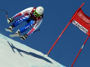"World Cup of Alpin Ski Kandahar is held on the famous ""Verte des Houches"" piste"
